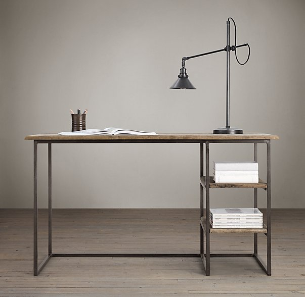 Open steel frame with reclaimed elm wood - need we say more?