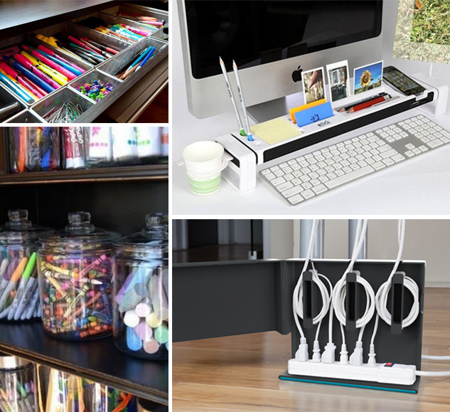 Home office organization ideas - Desk organization products ...